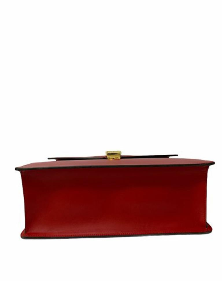 Gucci Red Leather Sylvie Shoulder Bag  For Sale 1