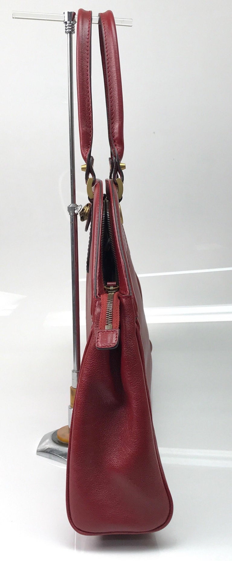 Gucci Red Marmont Re(Belle) Handbag In New Condition For Sale In Palm Beach, FL