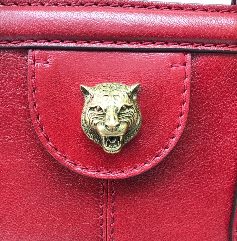 Gucci Red Marmont Re(Belle) Handbag For Sale 2
