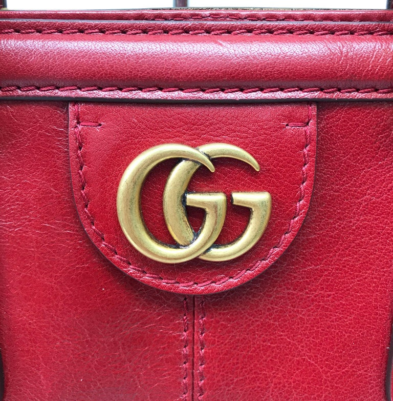 Gucci Red Marmont Re(Belle) Handbag For Sale 3