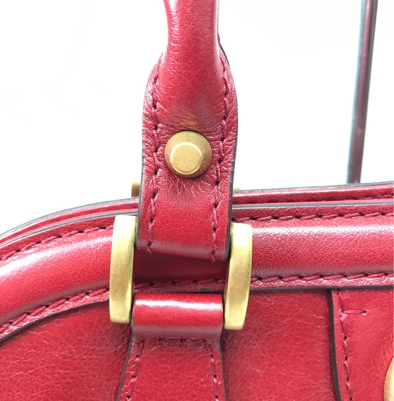 Gucci Red Marmont Re(Belle) Handbag For Sale 4