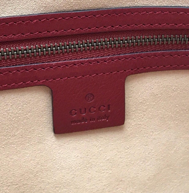 Gucci Red Marmont Re(Belle) Handbag For Sale 5