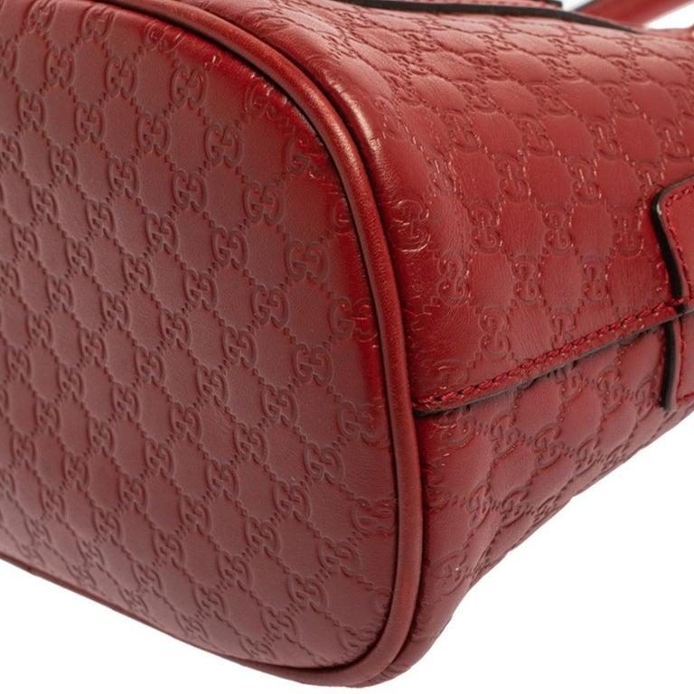 Gucci Red Microguccissima Leather Mini Dome Bag For Sale 6