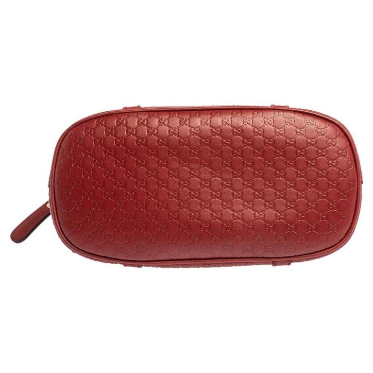 Women's Gucci Red Microguccissima Leather Mini Dome Bag For Sale