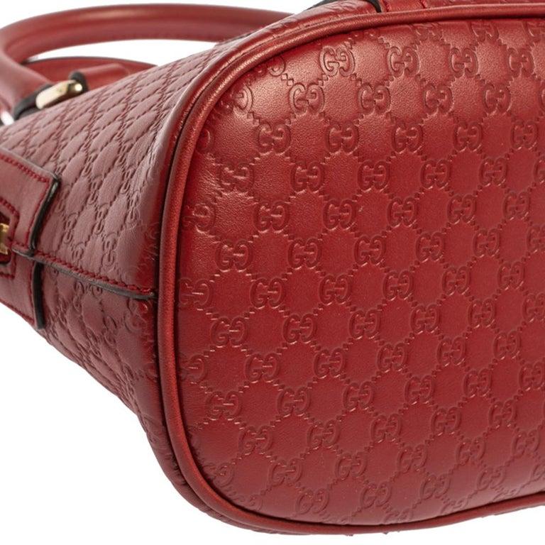 Gucci Red Microguccissima Leather Mini Dome Bag For Sale 1