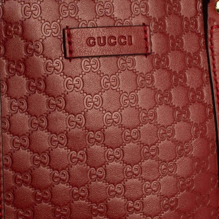 Gucci Red Microguccissima Leather Mini Dome Bag For Sale 2