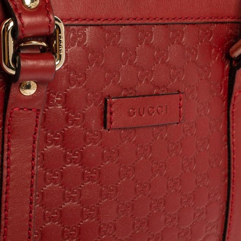 Gucci Red Microguccissima Leather Mini Dome Bag For Sale 4