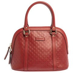 Gucci Red Microguccissima Leather Mini Dome Bag