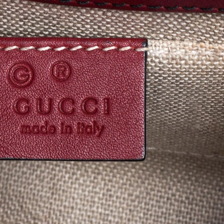 Gucci Red Microguccissima Leather Mini Emily Chain Shoulder Bag For Sale 1