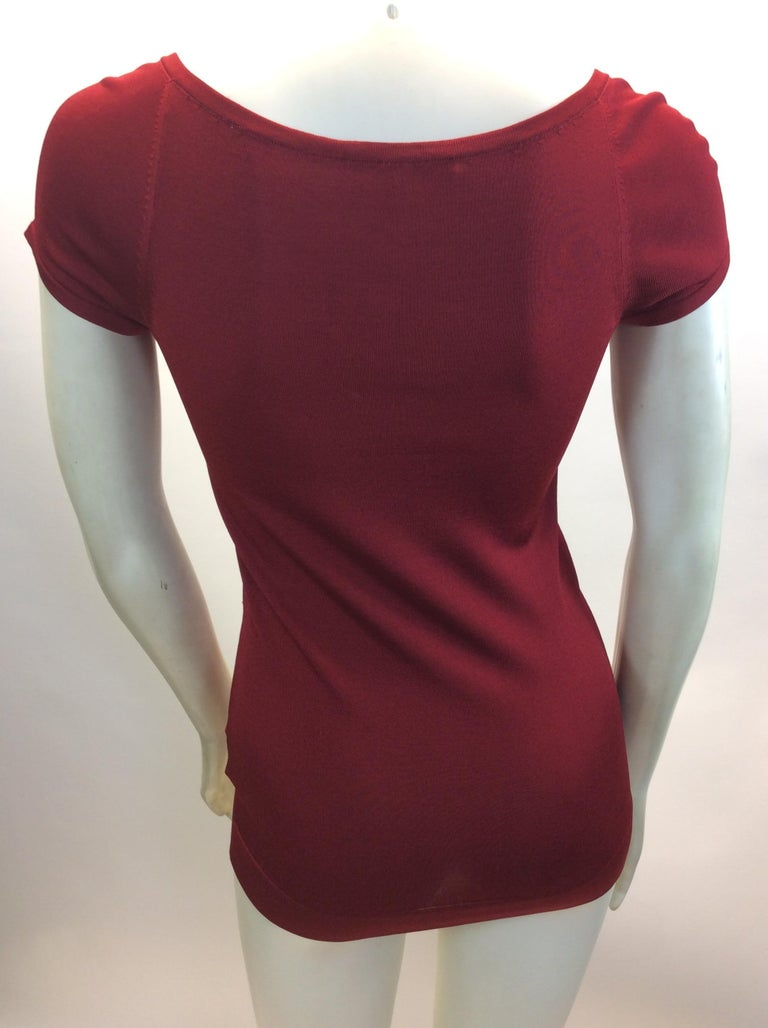 Black Gucci Red Short Sleeve Blouse For Sale