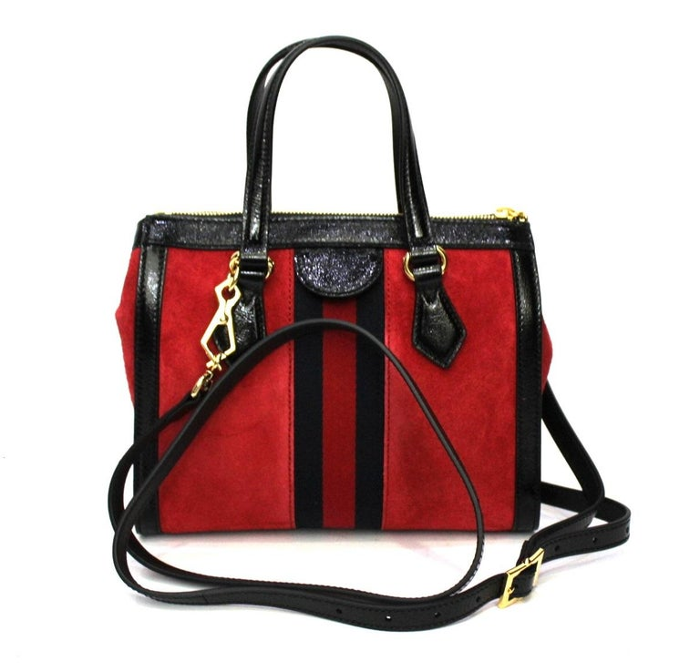 Gucci Red Suede Bag In New Condition For Sale In Torre Del Greco, IT