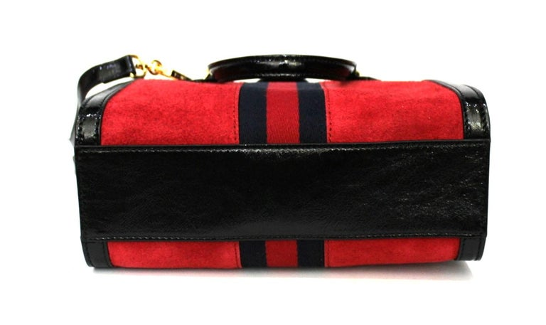 Women's Gucci Red Suede Bag For Sale