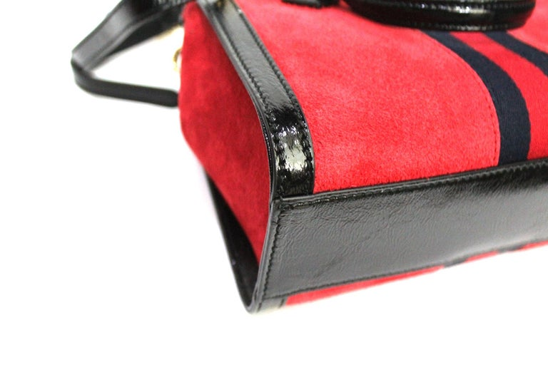 Gucci Red Suede Bag For Sale 1