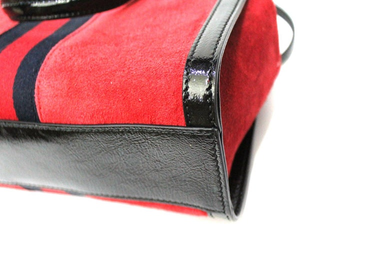 Gucci Red Suede Bag For Sale 2