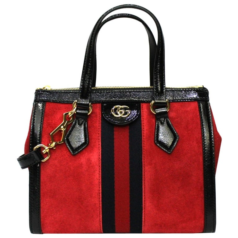 Gucci Red Suede Bag For Sale