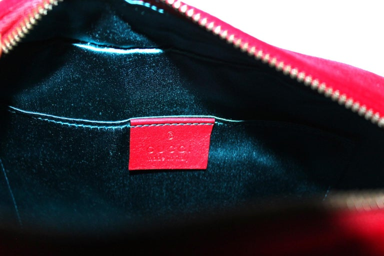 Women's Gucci Red Velvet Marmont Bag
