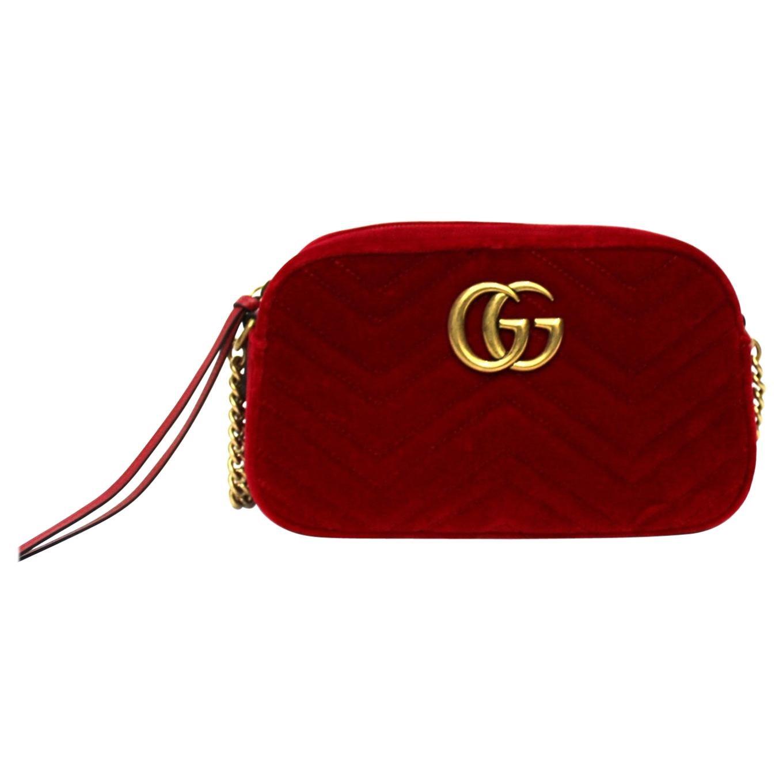 Gucci Red Velvet Marmont Bag