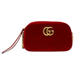 Gucci Red Velvet Marmont Bag