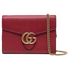Gucci Red Wallet On a Chain