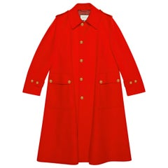 GUCCI red wool Oversized Coat Jacket 46 Mens Fits Women's XL