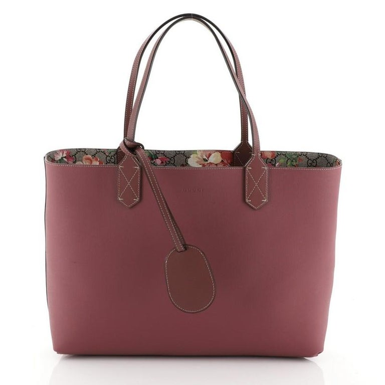 Gucci Reversible Tote Blooms GG Print Leather Medium For Sale 1