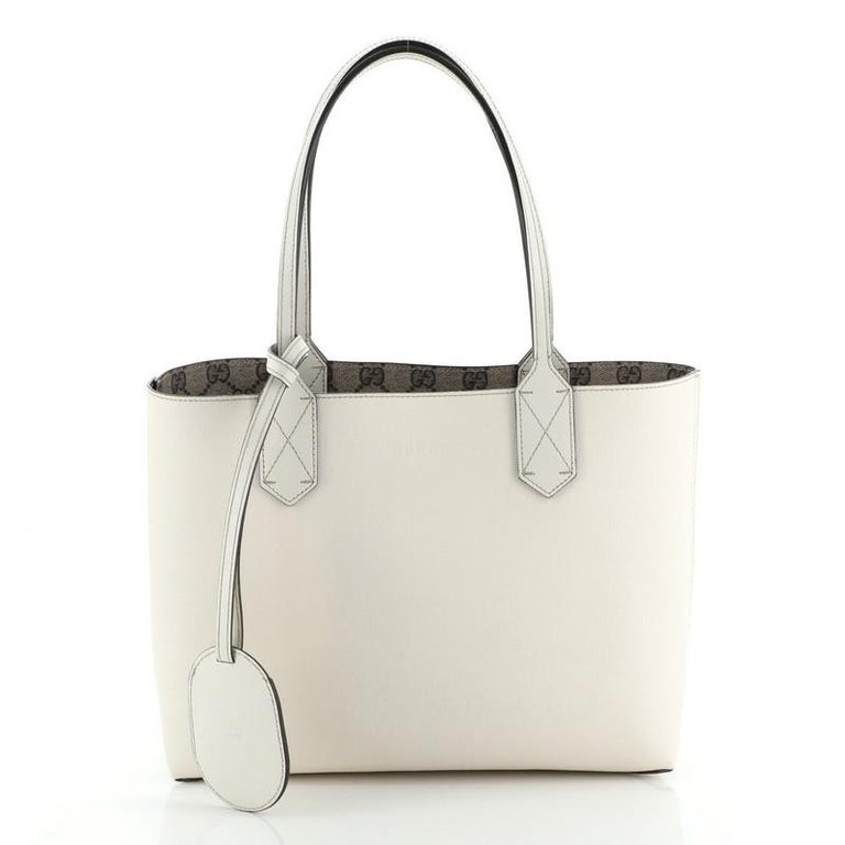 Gucci Reversible Tote GG Print Leather Small For Sale 1