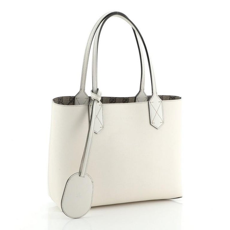 Gucci Reversible Tote GG Print Leather Small For Sale 2