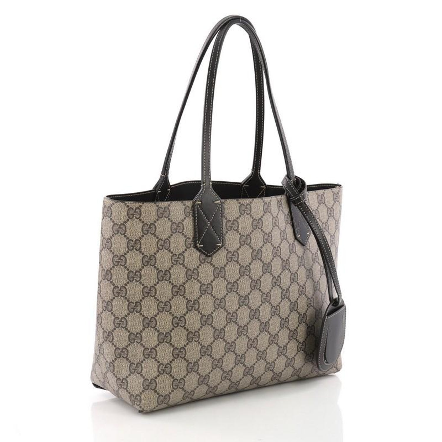 75913b91cc04 Gucci Reversible Tote GG Print Leather Small at 1stdibs