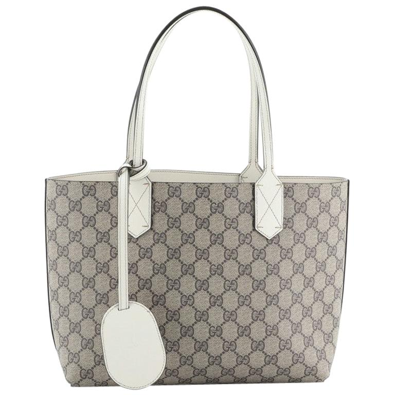 Gucci Reversible Tote GG Print Leather Small For Sale