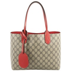 Gucci Reversible Tote GG Print Leather Small