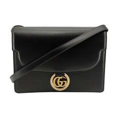GUCCI Ring Shoulder bag in Black Leather