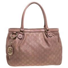 Gucci Rose Pink Guccissima Leather Sukey Tote