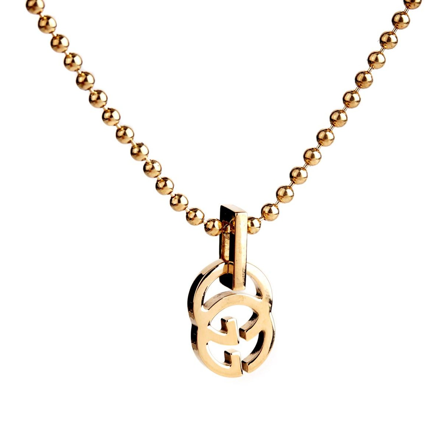 a48706958 Gucci Running G Gold Necklace at 1stdibs
