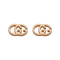 Gucci Running G Stud Earrings in 18 Karat Rose Gold YBD94074003