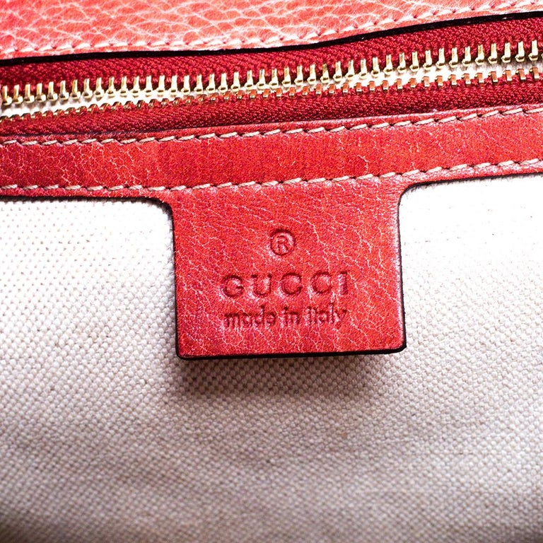 Gucci Rust Leather Medium Tassel New Bamboo Top Handle Bag For Sale 3