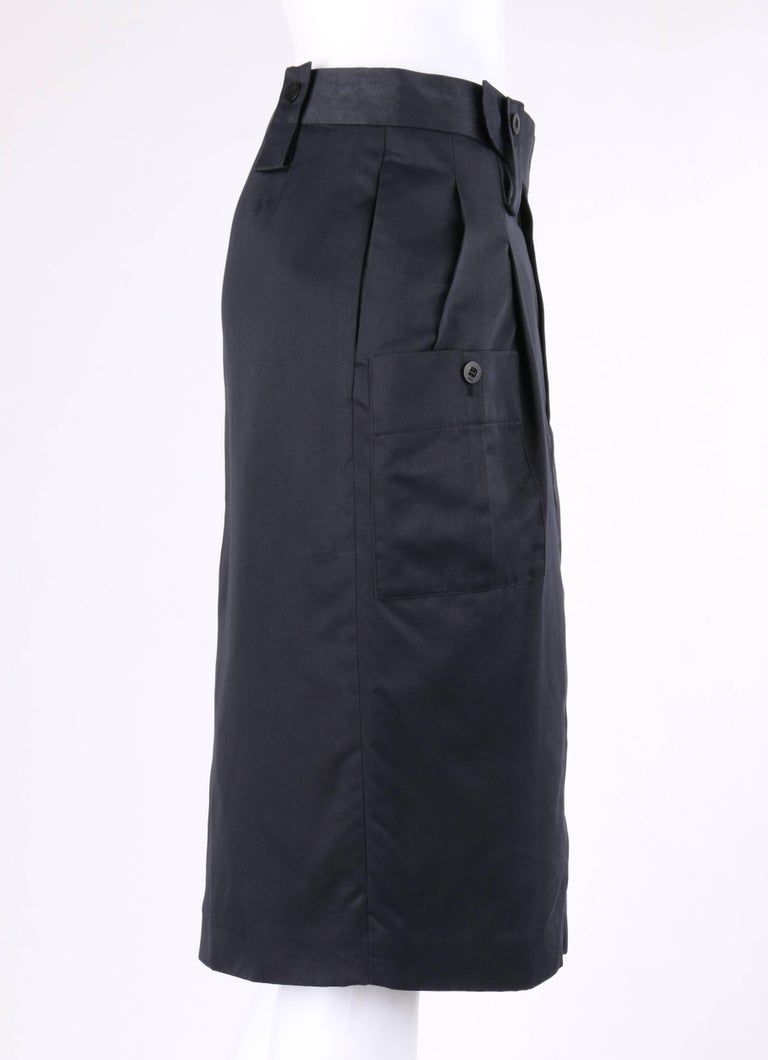 Gucci S S 2001 Tom Ford Navy Blue Silk Twill Cargo Pocket