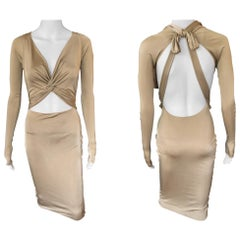 Gucci S/S 2005 Plunging Cutout Backless Bodycon Dress