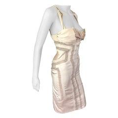 Gucci S/S 2005 Runway Bustier Open Cutout Back Silk Dress