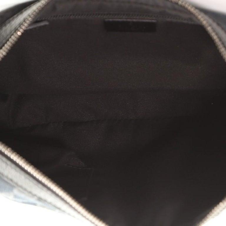 Women's or Men's Gucci Saddle Zip Messenger Bag GG Canvas Medium