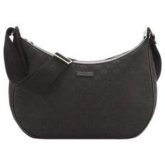 Gucci Saddle Zip Messenger Bag GG Canvas Medium
