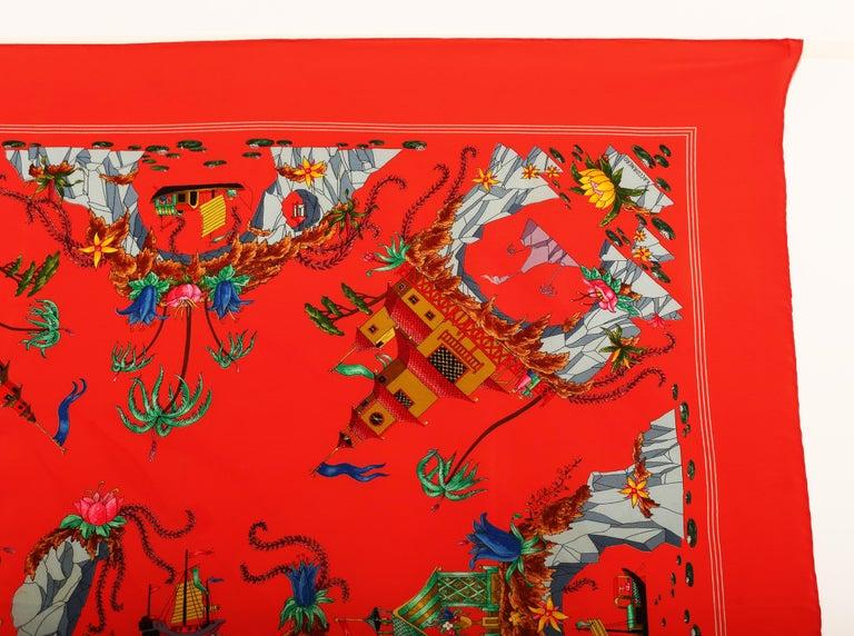 Red Gucci Scarf signed by Vittorio Accornero 1960´s-1970´s For Sale