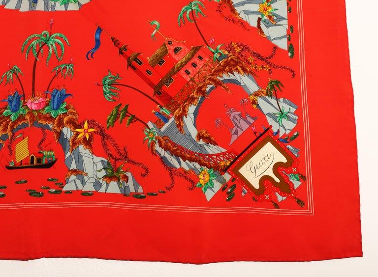 Gucci Scarf signed by Vittorio Accornero 1960´s-1970´s In Good Condition For Sale In  Bilbao, ES