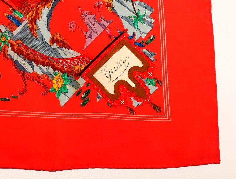 Gucci Scarf signed by Vittorio Accornero 1960´s-1970´s For Sale 2
