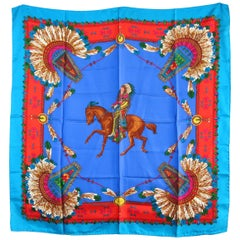 Gucci Scarf Silk Indian Chief Motif 1990s  New, Never worn