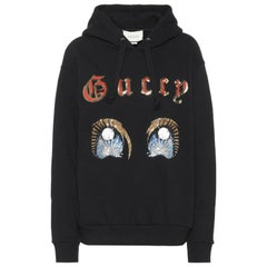 Gucci Sequin Embellished Cotton-Jersey Hoodie