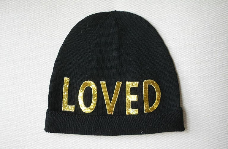 Crafted from soft wool in a classic black hue, Gucci's beanie hat seems to both ask and answer the question: are you
