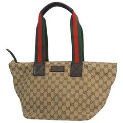 GUCCI Shelly Womens shoulder bag 131230 beige x brown