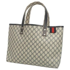 GUCCI Shelly Womens tote bag 211134 beige x Navy