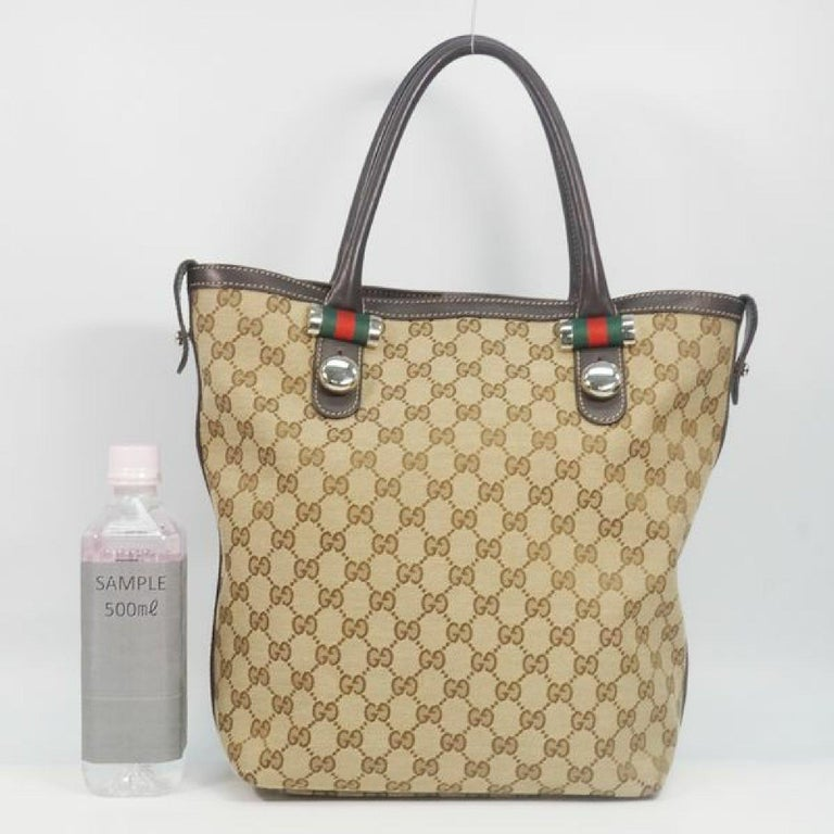 GUCCI Shelly Womens tote bag 232970 beige x brown For Sale 10