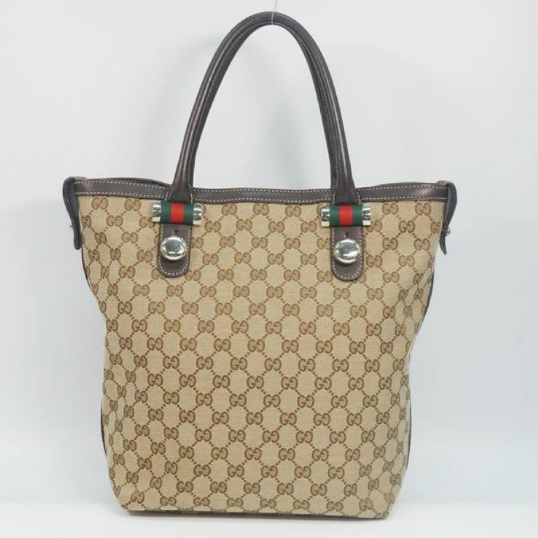 Brown GUCCI Shelly Womens tote bag 232970 beige x brown For Sale